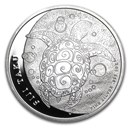 2011 Fiji 1 oz Silver $2 Taku BU