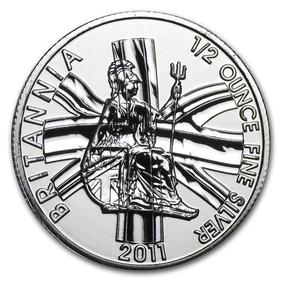 2011 Great Britain 1/2 oz Silver Britannia BU