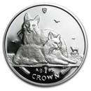 2011 Isle of Man 1 oz Silver Turkish Angora Cat Proof
