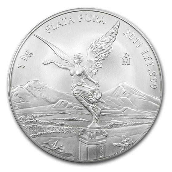 2011 Mexico 1 kilo Silver Libertad BU (In Capsule)
