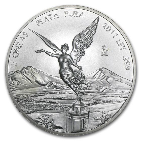2011 Mexico 5 oz Silver Libertad BU