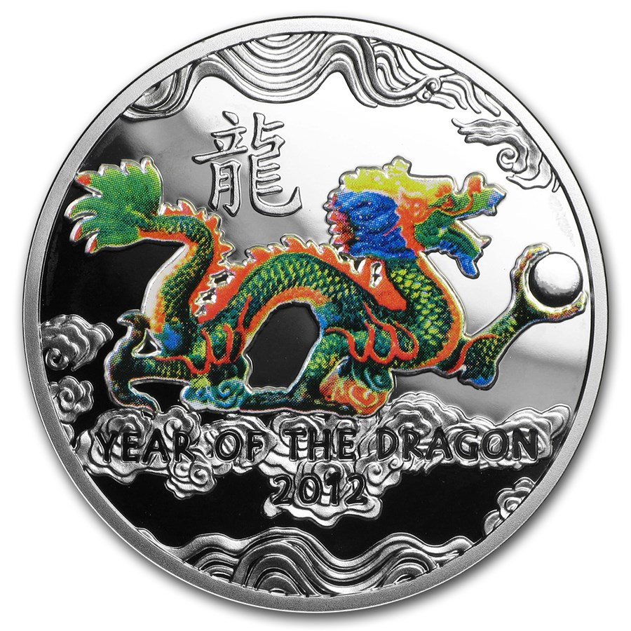 2011 Niue Proof Silver 2012 Year of the Dragon