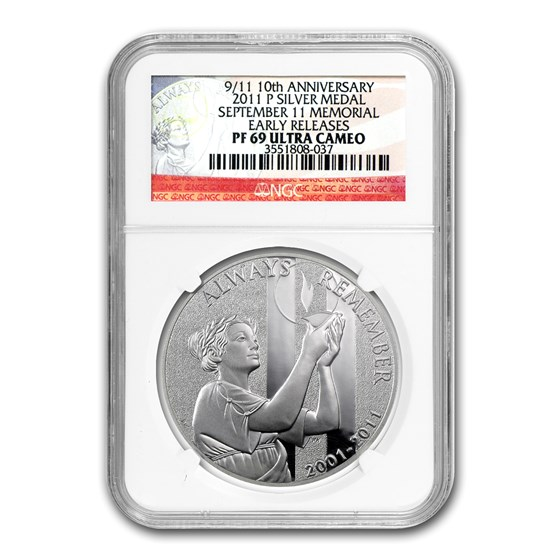 2011-P 9/11 National Medal PF-69 UCAM NGC Early Release