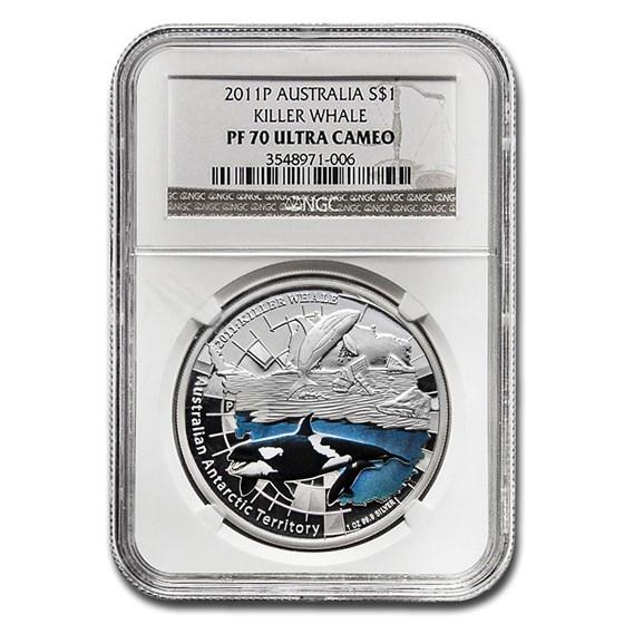 2011-P Australia 1 oz Silver Killer Whale PF-70 UC NGC