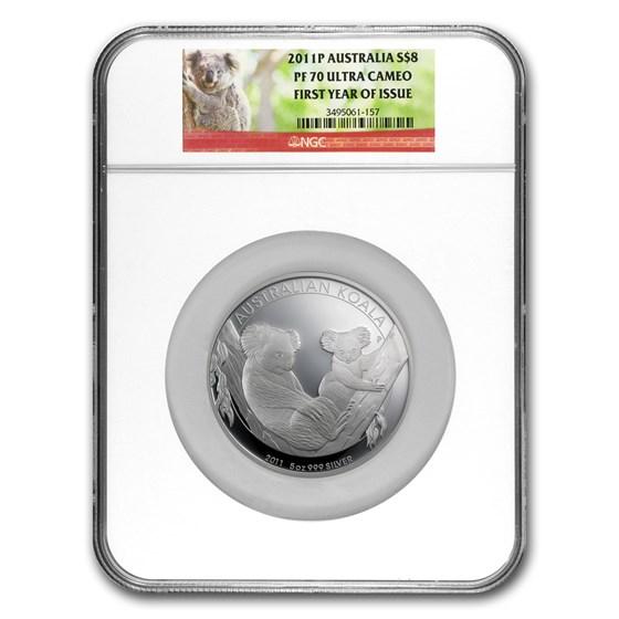 2011-P Australia 5 oz Silver Koala PF-70 NGC
