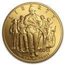 2011-P Gold $5 Commemorative Army BU (w/Box & COA)