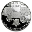 2011-P Medal of Honor $1 Silver Commem Proof (w/Box & COA)