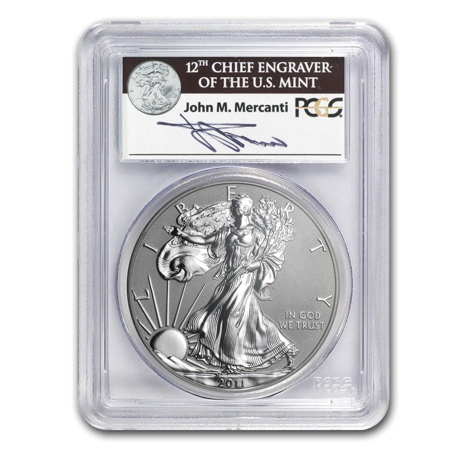 2011-P Reverse Proof Silver Eagle PR-69 PCGS (FS, John Mercanti)