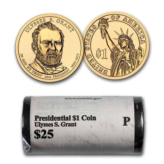 2011-P Ulysses S. Grant Presidential Dollar 25-Coin Roll BU