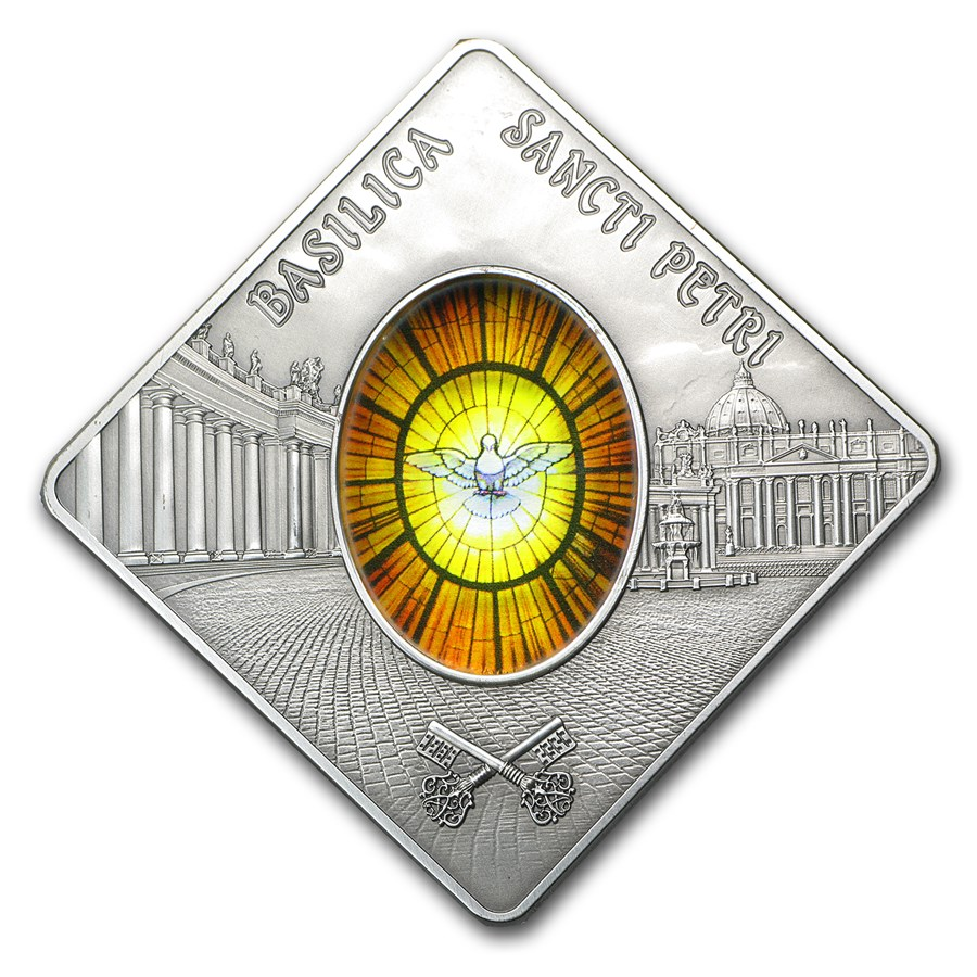 2011 Palau Proof Silver $10 Holy Windows St Peters Basilica