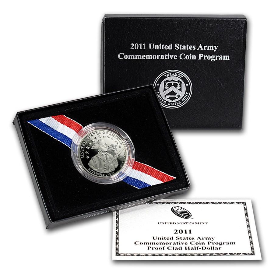2011-S Army 1/2 Dollar Clad Commemorative Proof (Box & COA)