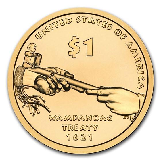 2011-S Native Amer $1 - Wampanoag Treaty Gem Proof