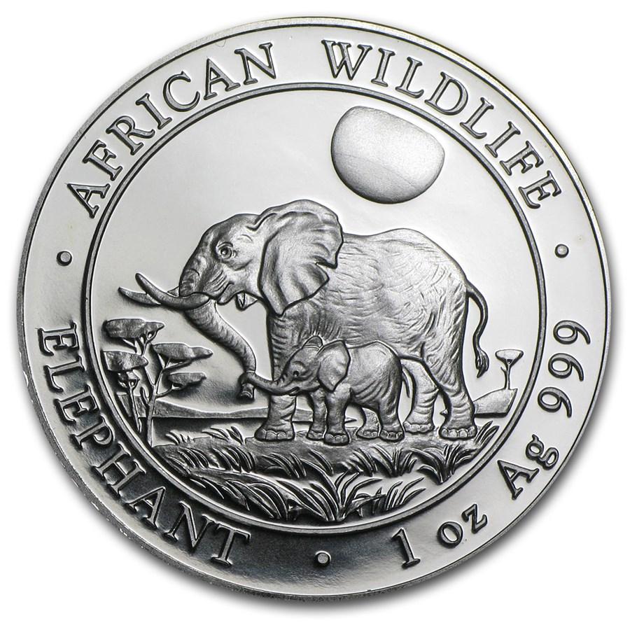 2011 Somalia 1 oz Silver Elephant BU