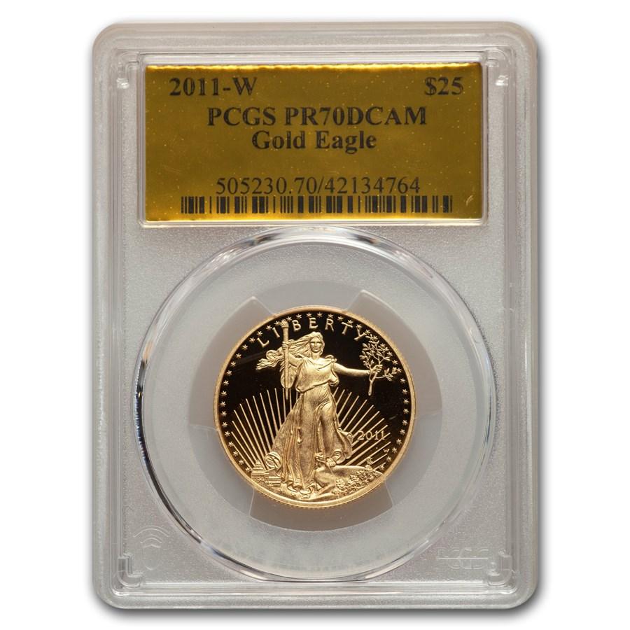 2011-W 1/2 oz Proof American Gold Eagle PR-70 PCGS (Gold Foil)