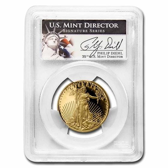 2011-W 1/2 oz Proof Gold Eagle PR-69 DCAM PCGS (Diehl Signed)