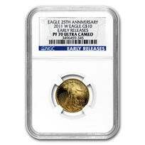 2011-W 1/4 oz Proof American Gold Eagle PF-70 NGC (ER)