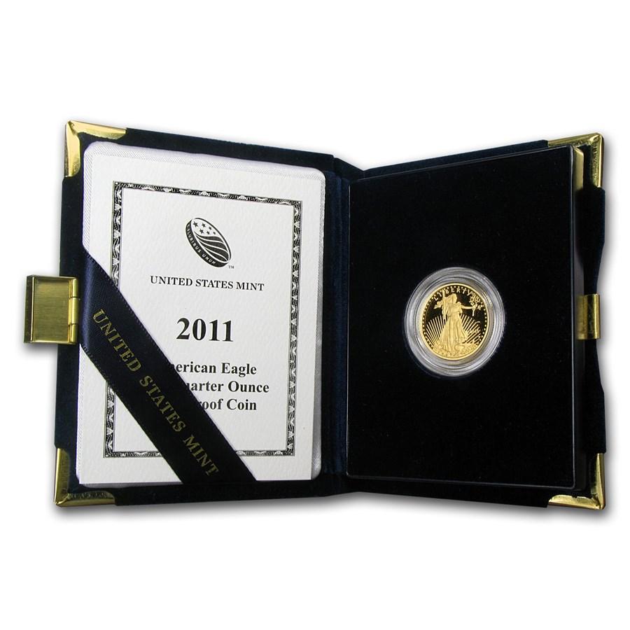 2011-W 1/4 oz Proof American Gold Eagle (w/Box & COA)