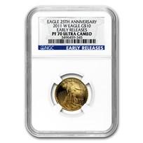 2011-W 1/4 oz Proof Gold American Eagle PF-70 NGC (ER)