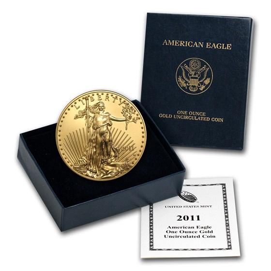 2011-W 1 oz Burnished Gold Eagle (w/Box & COA)