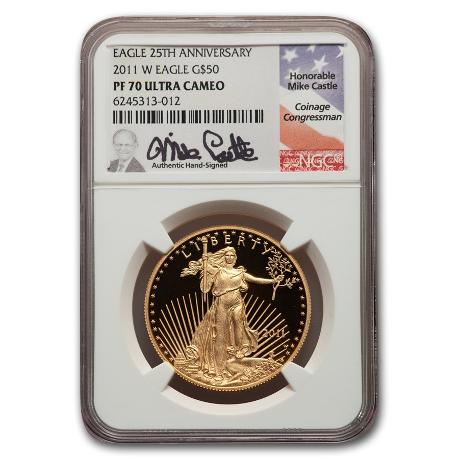 2011-W 1 oz Proof American Gold Eagle PF-70 NGC (Castle Label)
