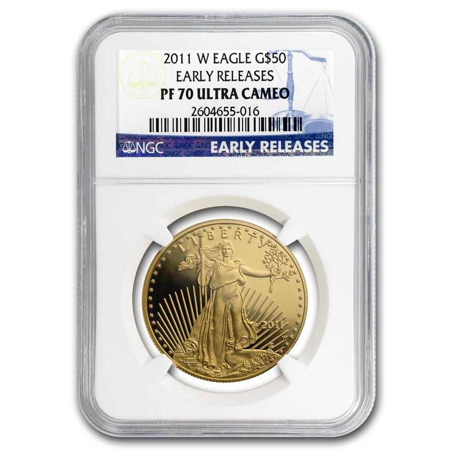 2011-W 1 oz Proof American Gold Eagle PF-70 NGC (ER)