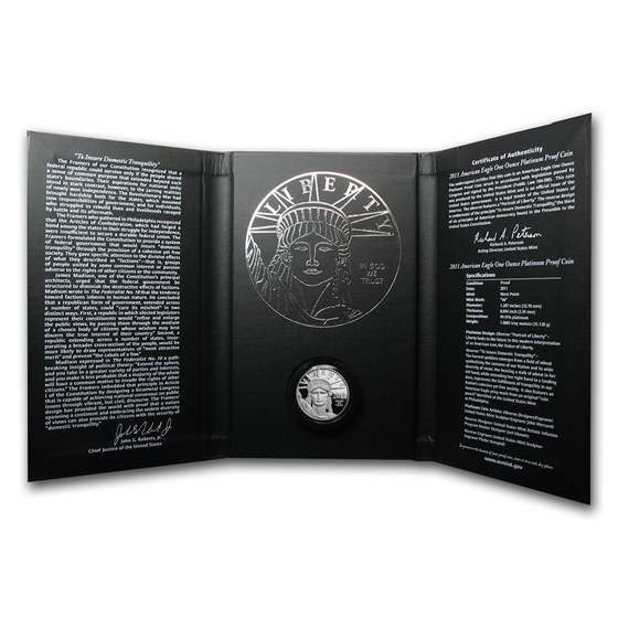 2011-W 1 oz Proof American Platinum Eagle (w/Box & COA)