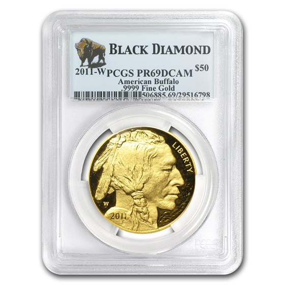 2011-W 1 oz Proof Gold Buffalo PR-69 PCGS (Black Diamond)