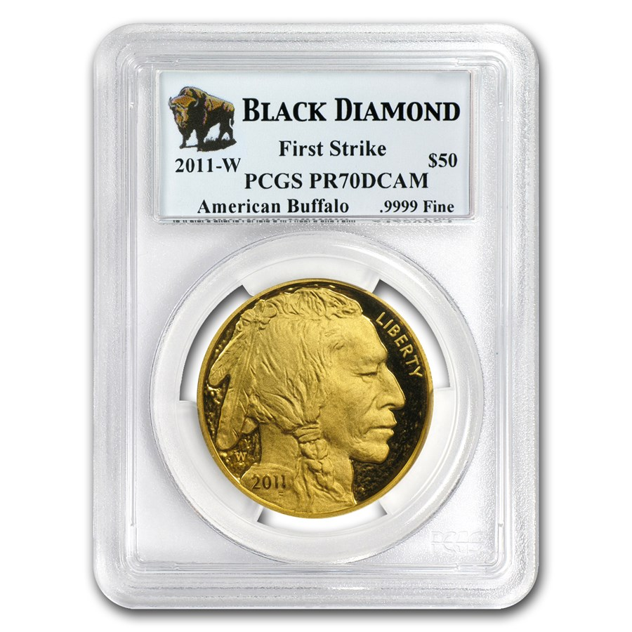 2011-W 1 oz Proof Gold Buffalo PR-70 PCGS (FS, Black Diamond)