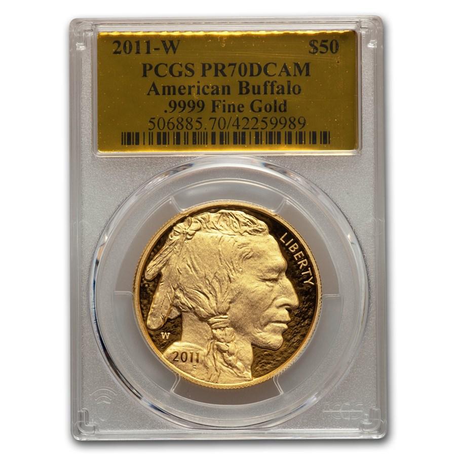 2011-W 1 oz Proof Gold Buffalo PR-70 PCGS (Gold Foil)