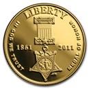 2011-W Gold $5 Commem Medal of Honor Proof (w/Box & COA)