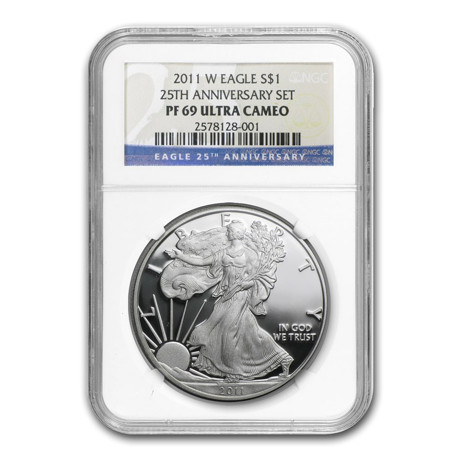 2011-W Proof American Silver Eagle PF-69 NGC (25th Anniv Set)