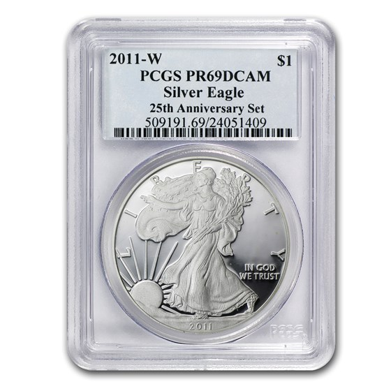 2011-W Proof American Silver Eagle PR-69 PCGS (25th Anniv)