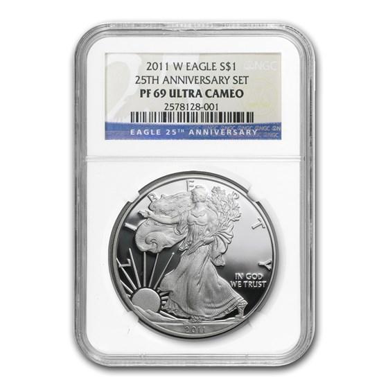 2011-W Proof Silver American Eagle PF-69 NGC (25th Anniv Set)