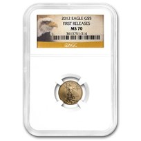 2012 1/10 oz American Gold Eagle MS-70 NGC (First Releases)