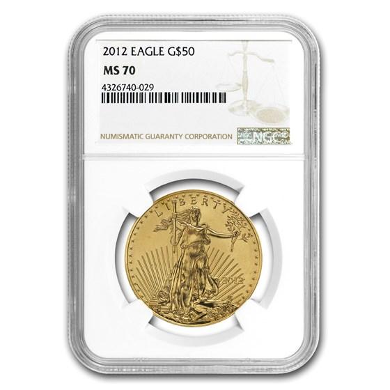2012 1 oz American Gold Eagle MS-70 NGC