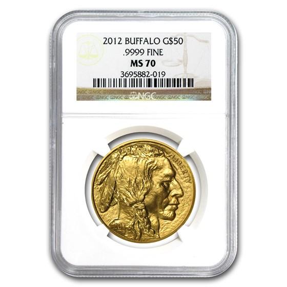 2012 1 oz Gold Buffalo MS-70 NGC