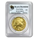 2012 1 oz Gold Buffalo MS-70 PCGS (FS, Black Diamond)