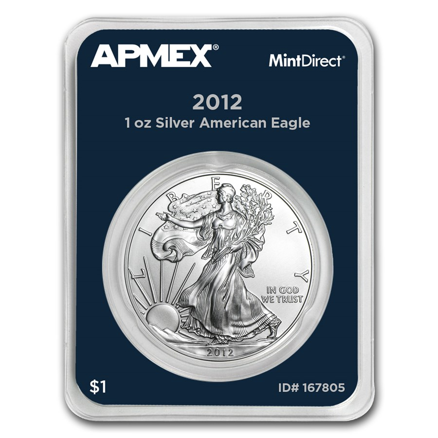 2012 1 oz Silver American Eagle (MintDirect® Single)