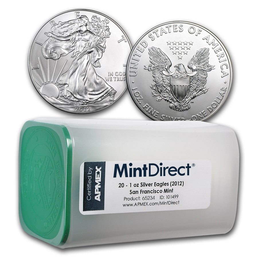 2012 1 oz Silver Eagle SF Mint (20-Coin MintDirect® Tube)
