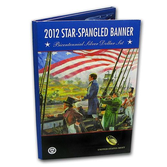2012 $1 Silver Star Spangled Banner Bicentennial Proof (Book)
