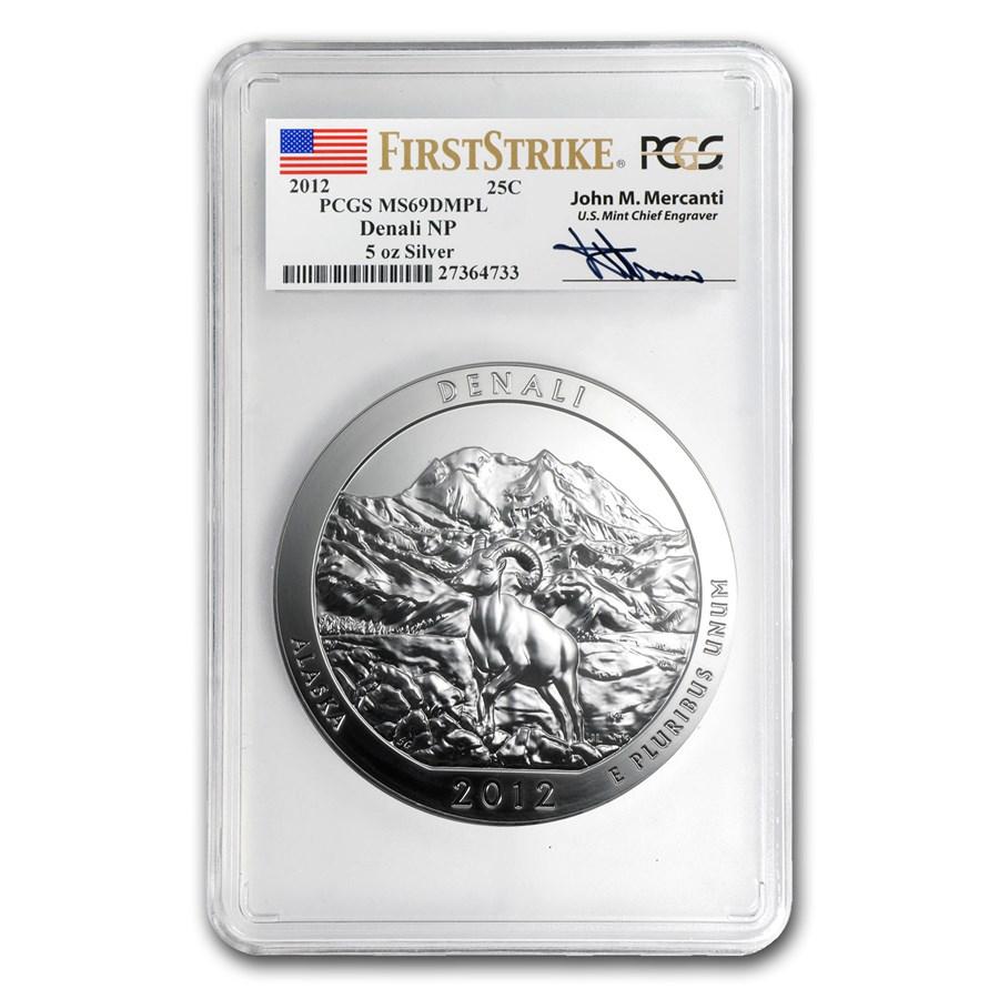 2012 5 oz Silver ATB Denali MS-69 DMPL (FS, John Mercanti)