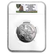 2012 5 oz Silver ATB El Yunque MS-69 PL NGC (ER)