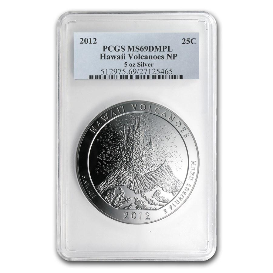 2012 5 oz Silver ATB Hawaii MS-69 DMPL PCGS (FirstStrike®)