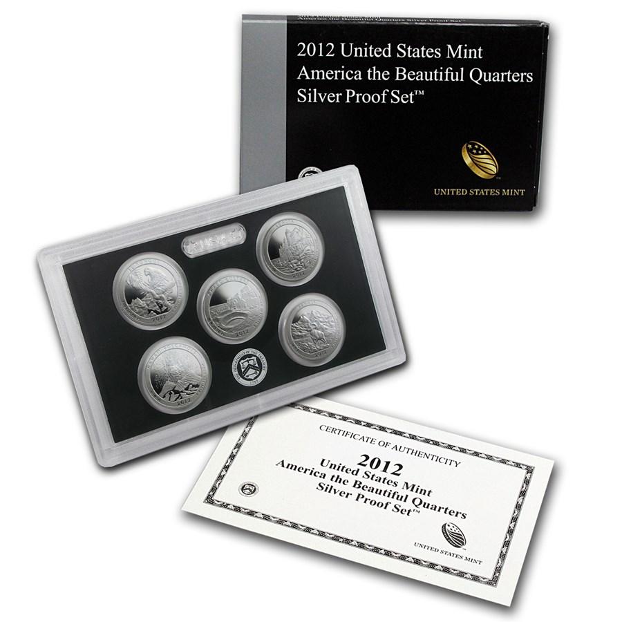 2012 America the Beautiful Quarters Silver Proof Set