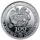 2012 Armenia 1/4 oz Silver 100 Drams Noah's Ark