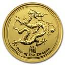 2012 Australia 1/10 oz Gold Lunar Dragon BU (Series II)