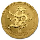 2012 Australia 1/2 oz Gold Lunar Dragon BU (Series II)