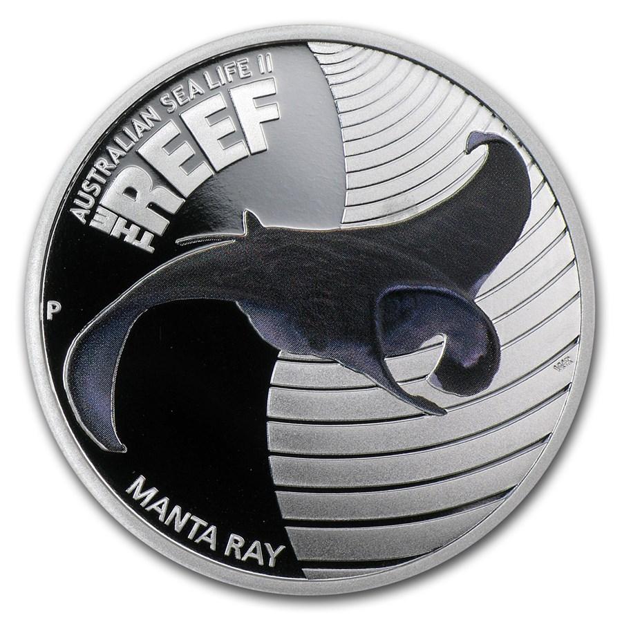 2012 Australia 1/2 oz Silver Manta Ray Proof