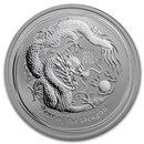 2012 Australia 1/2 oz Silver Year of the Dragon BU (Series II)