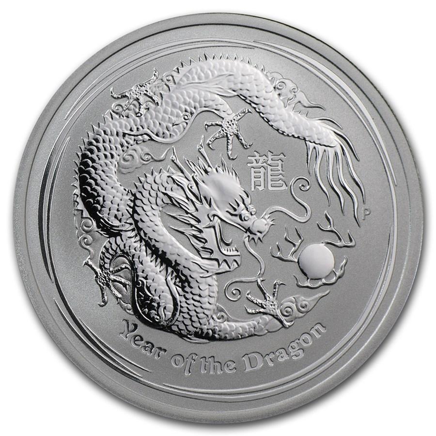 2012 Australia 1/2 oz Silver Year of the Dragon BU (Series II)